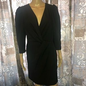 ASOS black wrap dress casual NWT Sz 10